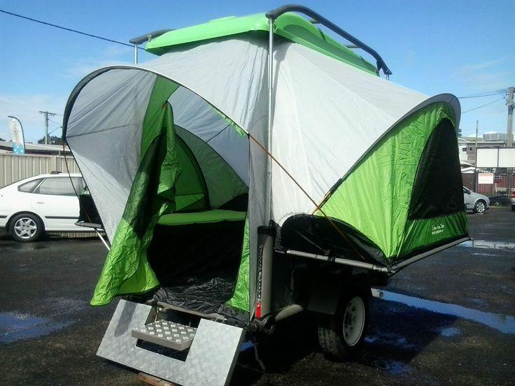 Bike trailer, Quad, ATV, Go kart trailer with fold out tent, Aluminium, Light.