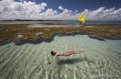 As piscinas naturais são a principal atração de Porto de Galinhas, no litoral sul de Pernambuco