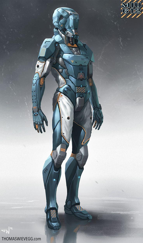 Robot, Future, Armor, Helmet, Futuristic, Android, MIU612 ...