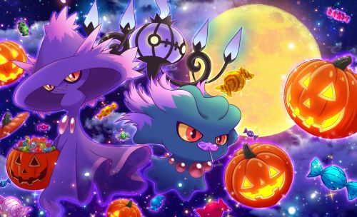 Misdreavus, Mismagius and Chandelure #Halloween