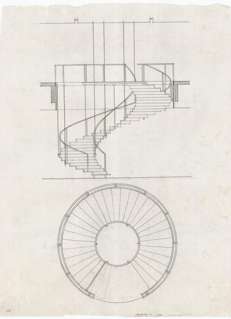 Arne Jacobsen, stairs SAS Royal Hotel, 1955-59