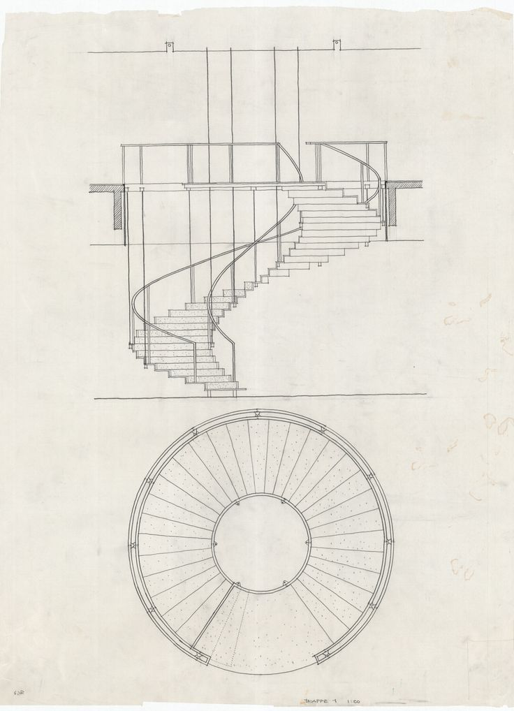 10 best images about stair section drawing on pinterest for Spiral staircase plan