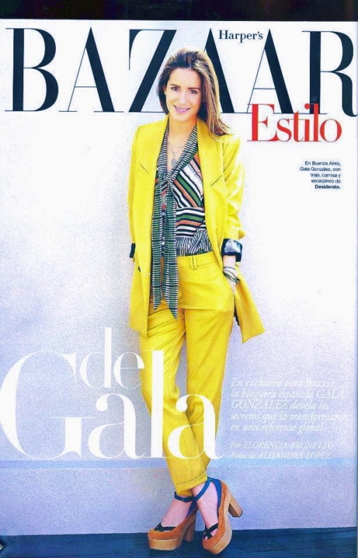 Yellow and Prints: Shoes, Fashion, Trips, Amlul, Colors, Harpers Bazaars, Bazaars Argentina, Gala Gonzalez, Harpers S Bazaars