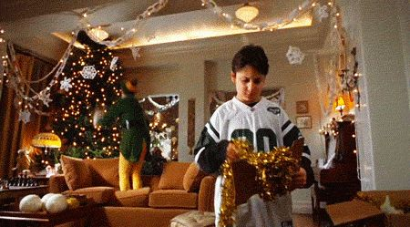 Your Complete Holiday GIF Guide #refinery29  http://www.refinery29.com/holiday-gif-guide#slide9  The Tree Jumper Recommended Use:  When someone asks how the family holiday tree decorating party went, at which you sat quietly in the corner while disaster insued. Source: The Will Ferrell classic, Elf