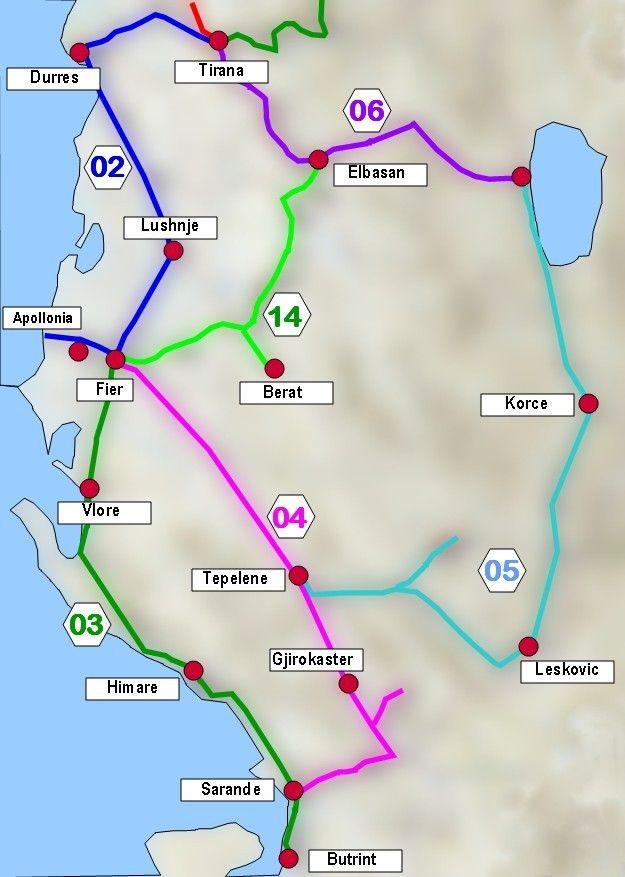 ALBANIEN: Routenübersicht