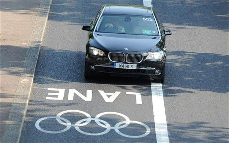 "Logoc, the Olympics committee headed up by Lord Coe, demanded that whoever won the bid to become automotive partner be a ""sustainable"" brand by having an average carbon emission figure across the fleet of 120g/km. BMW actually got its fleet down to 116g/km, by using its full line-up of EfficientDynamics 3-series and 5-series cars, as well as 5-series hybrids, electric Mini Es, scooters and bicycles."