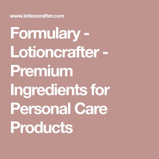 Formulary - Lotioncrafter - Premium Ingredients for Personal Care Products