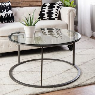 round glass top metal coffee table shopping great deals