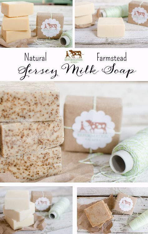 This is my favorite soap!! All-Natural, long-lasting handmade bars of farmstead soap made with creamy Jersey milk!