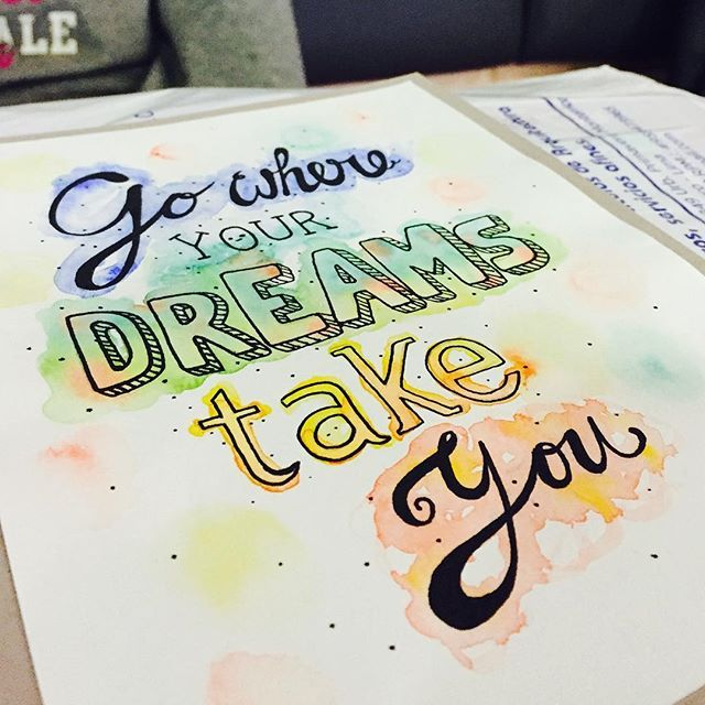 #Dreams #art #acuarelas #nice #cute #quote #arte #go #where #dreams #take #you #follow #design #dibujo