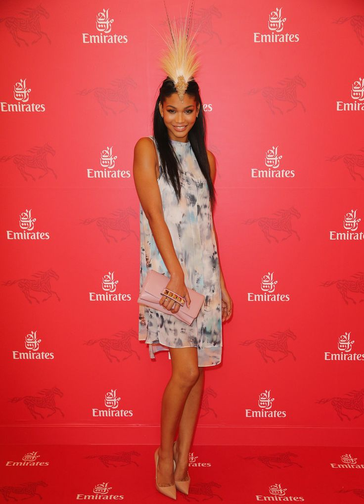 Chanel Iman Photos: Celebrities Attend Stakes Day