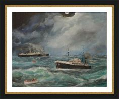 volundam torpedoed marine art brian killin