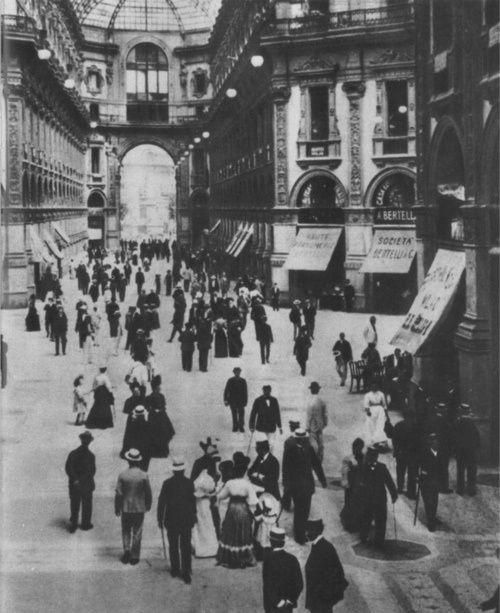 Italy ~ Galleria Vittorio Emanuele II: Milan, 1890