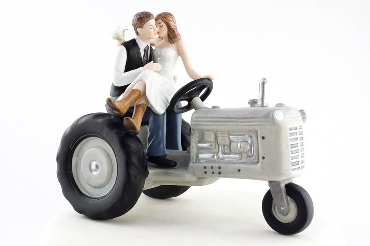 You and your Love, ride off into the sunset on this cute Tractor Cake Topper. Wow your friends and family with this unique conversation piece. Perfect for your western or country wedding.