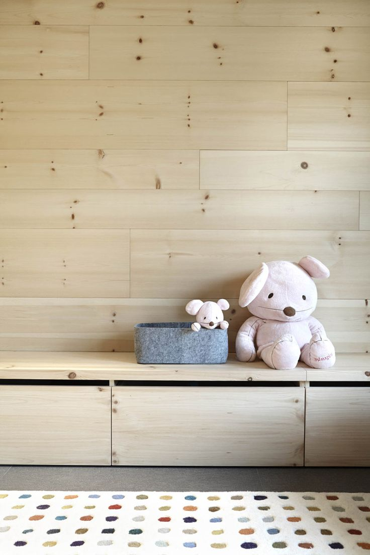 Kids Storage   Coblonal Architecture   Andorra Blond Timber Residence   Est Magazine