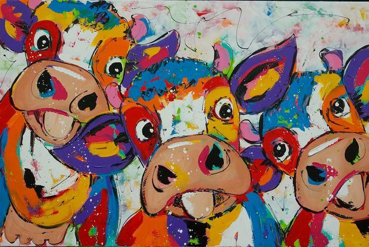 Schilderij koeien.