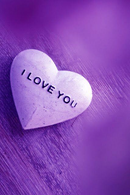 Purple Hearts And Purple Love