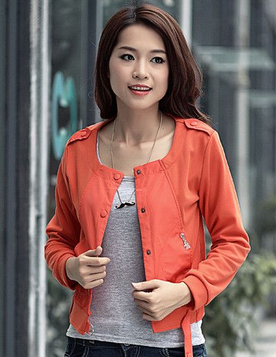 Luxuries Stylish New All-match 3 Colors Round Collar Jackets                   _Jackets_Outerwear_Wholesalekingdom.net