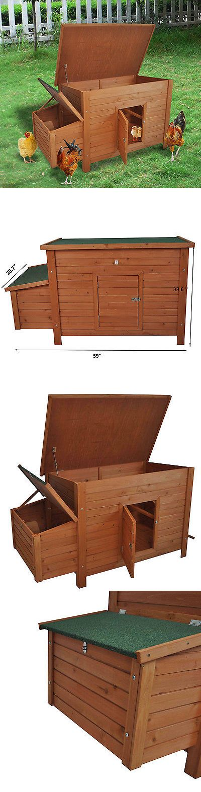 Backyard Poultry Supplies 177801: Pawhut Backyard Wooden Chicken Coop Hutch Poultry Nesting Cage Hen Habitat House -> BUY IT NOW ONLY: $129.99 on eBay!