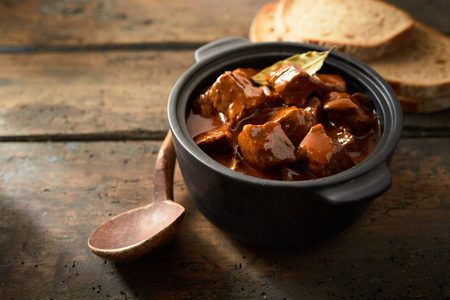 "Authentic Marha Pörkölt: Hungarian Goulash (Slow Cooker)- Read why this recipe means a little bit more than just a ""how-to"": from a country under German occupation, to a family bond, to the table. With love."