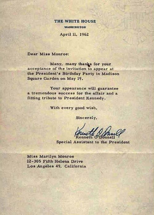 Marilyn's White House confirmation to JFK's infamous 1962 B'day party at the Garden