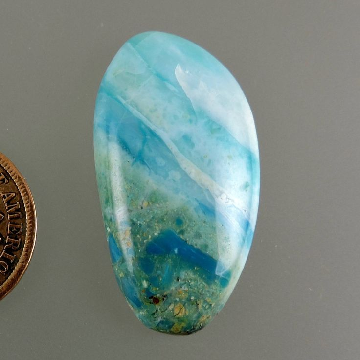 Peruvian Blue Opal Cabochon, Blue Opal Cab, Designer Blue Opal Cab, Blue Opal Pendant Cab, Opal Gift Cab, C2413, Handcrafted by 49erMinerals by 49erMinerals on Etsy