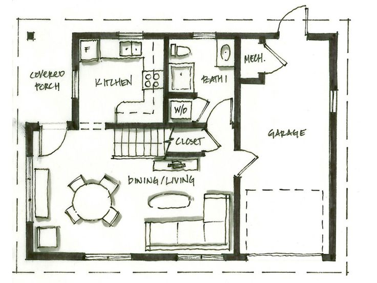 64 best small house floor plans images on pinterest for Best house design vancouver