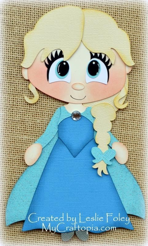 Disney Princess Elsa Frozen Premade Scrapbooking Embellishment Paper Piecing