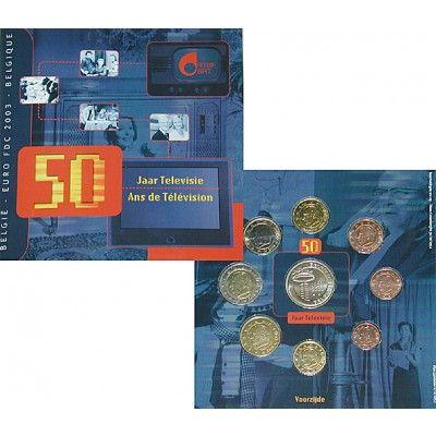 Belgien, Königreich, Albert II., Euro-Kursmünzensatz 2003, st: Albert II. 1993-2013. Euro-Kursmünzensatz 2003. 8 Münzen - 1 Cent bis… #coins