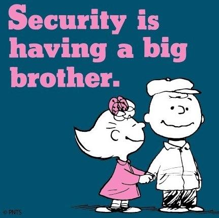 Big brother security Peanuts cartoon via www.Facebook.com