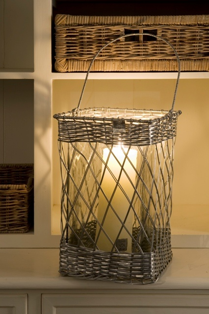 Riviera Maison Aluminium Hurricane Lantern with Glass - Large