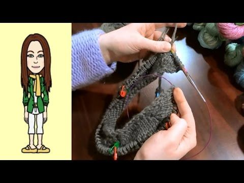 RVO - Raglan von oben Pullover stricken mit Rund-Ausschnitt u Streifen (Teil 5 von 8) - YouTube