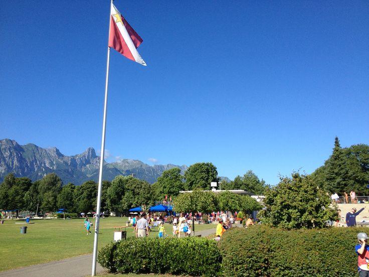 Strandbad Thun, Switzerland, Berner Oberland www.reckenbuel-haus.ch