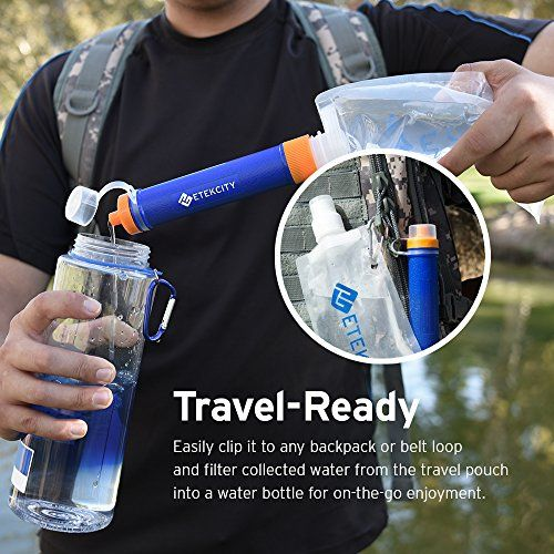 47% off on Etekcity Portable 1500L Emergency Camping Water Filter, 0.01 Micron…