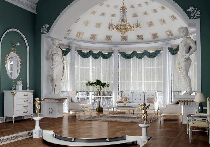 Fabulous Living Room Luxury Old Roman Style Greek And Roman