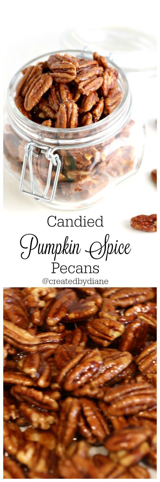 Candied Pumpkin Spice Pecans @createdydiane