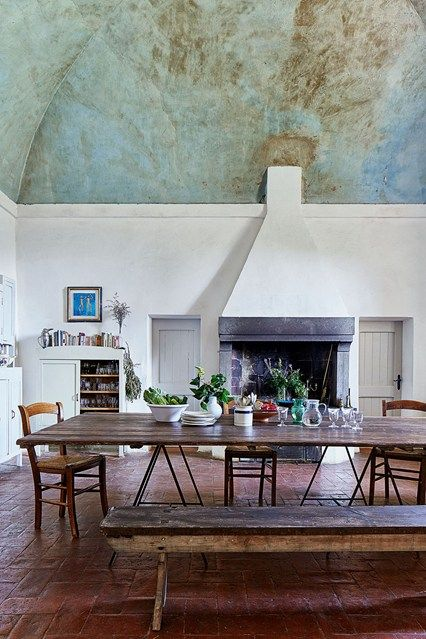 Explore our kitchen design ideas on HOUSE by House & Garden, including Emily Young's Tuscan dining room.