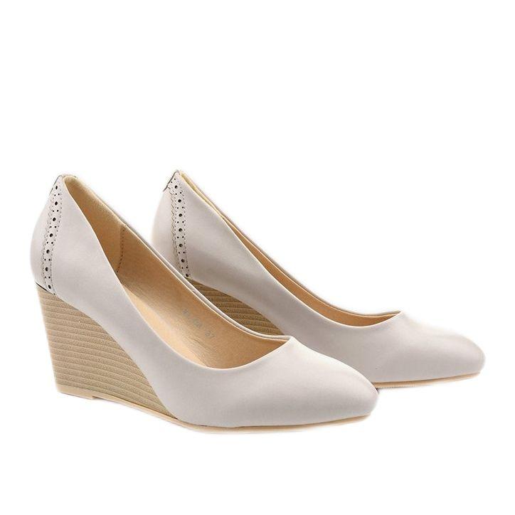 Szare Czolenka Na Koturnie Affore Shoes Fashion Wedges
