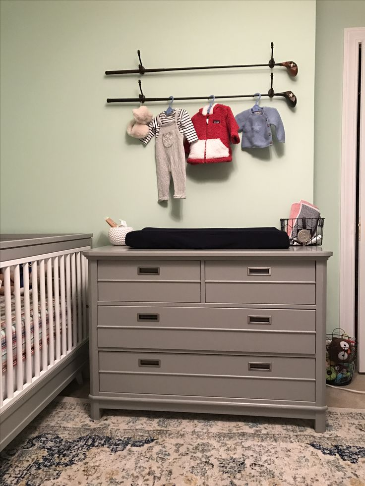 Baby boy nursery, golf themed nursery