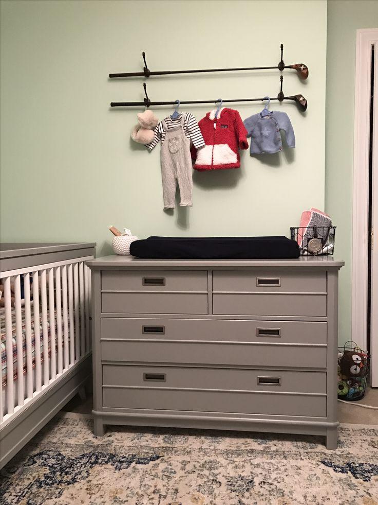 Baby boy nursery, golf themed nursery