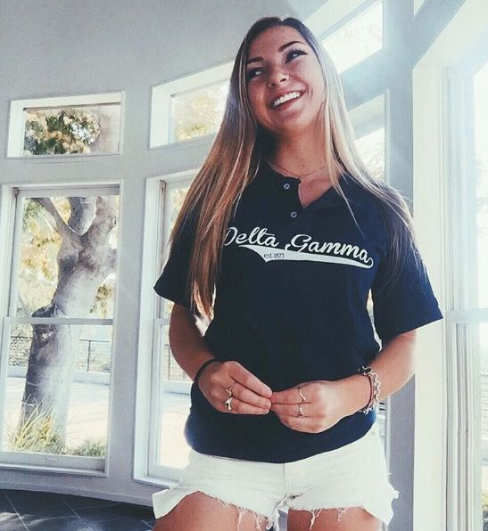 Delta Gamma | Baseball Tee | Recruitment Ideas | Sorority Shirts | Bid Day Apparel