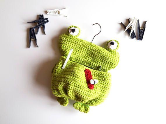 Sieh dir dieses Produkt an in meinem Etsy-Shop https://www.etsy.com/de/listing/518052629/wascheklammerbeutel-frosch-gruner-frosch
