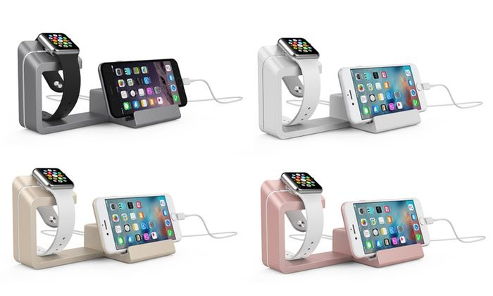 Dual Charging Stand for Apple Watch and Smartphones: Dual Charging Stand for Apple Watch and Smartphones