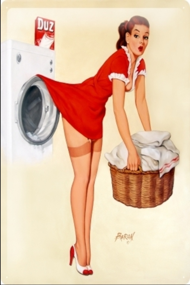 Vintage laundry decor, nothing beats a quirky little picture!!!