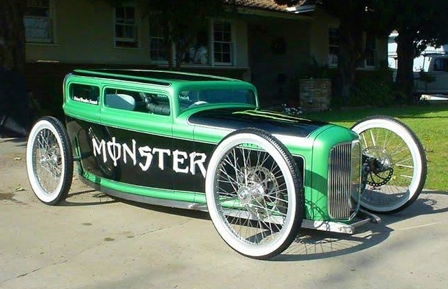 Ford Sedan Pedal Car Monster Energy And Monsters