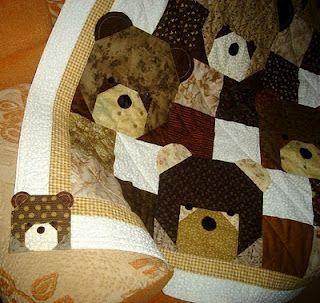teddy bear quilt pattern