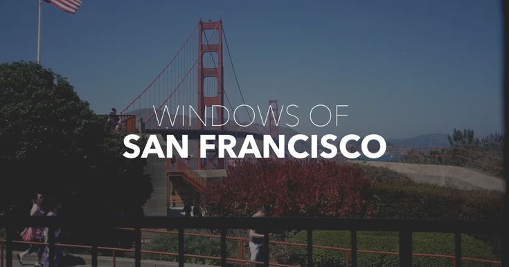 Explore San Francisco by looking out of 100 windows around the city. Watch surfers battle for waves in the Pacific, and scalpers hocking Giants' tickets outside AT&T Park. Watch skaters on Market Street, and a late night drinking session on a corner in Lower Haight. San Francisco is a magical place, enjoy the journey.