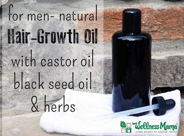 Natural Hair Growth Oil for Men with castor oil, black seed oil and herbs