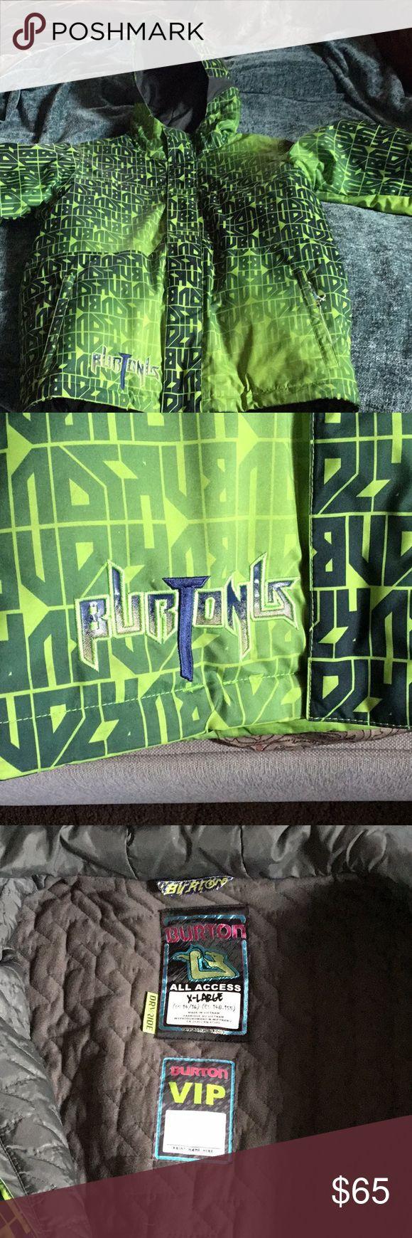 Youth XL Burton ski jacket Green and gray burton ski jacket. Like new condition, Used 3 times . Burton Jackets & Coats