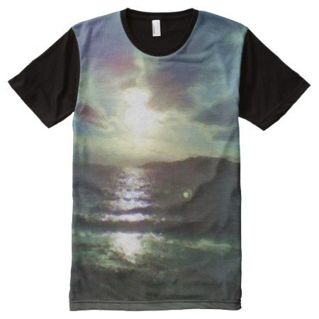 Nature of sea paint effect All-Over-Print shirt - click/tap to personalize and buy